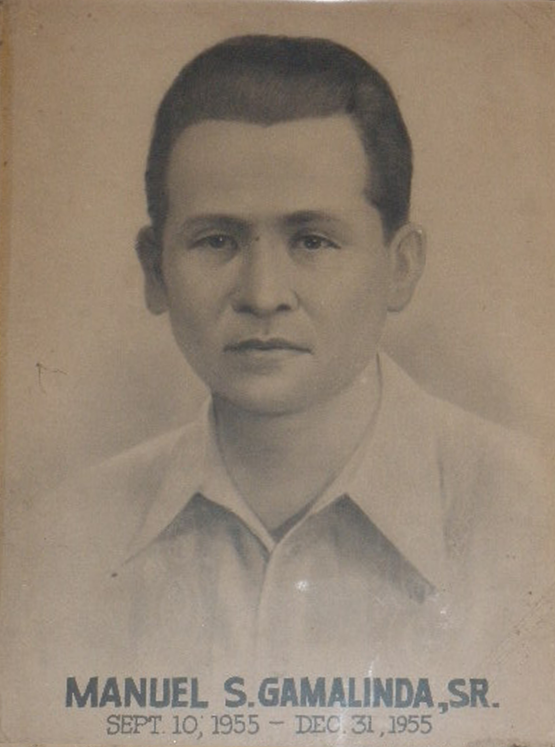 Mayor Manuel Gamalinda Sr. (Sept 10 1955-Dec 31 1955)