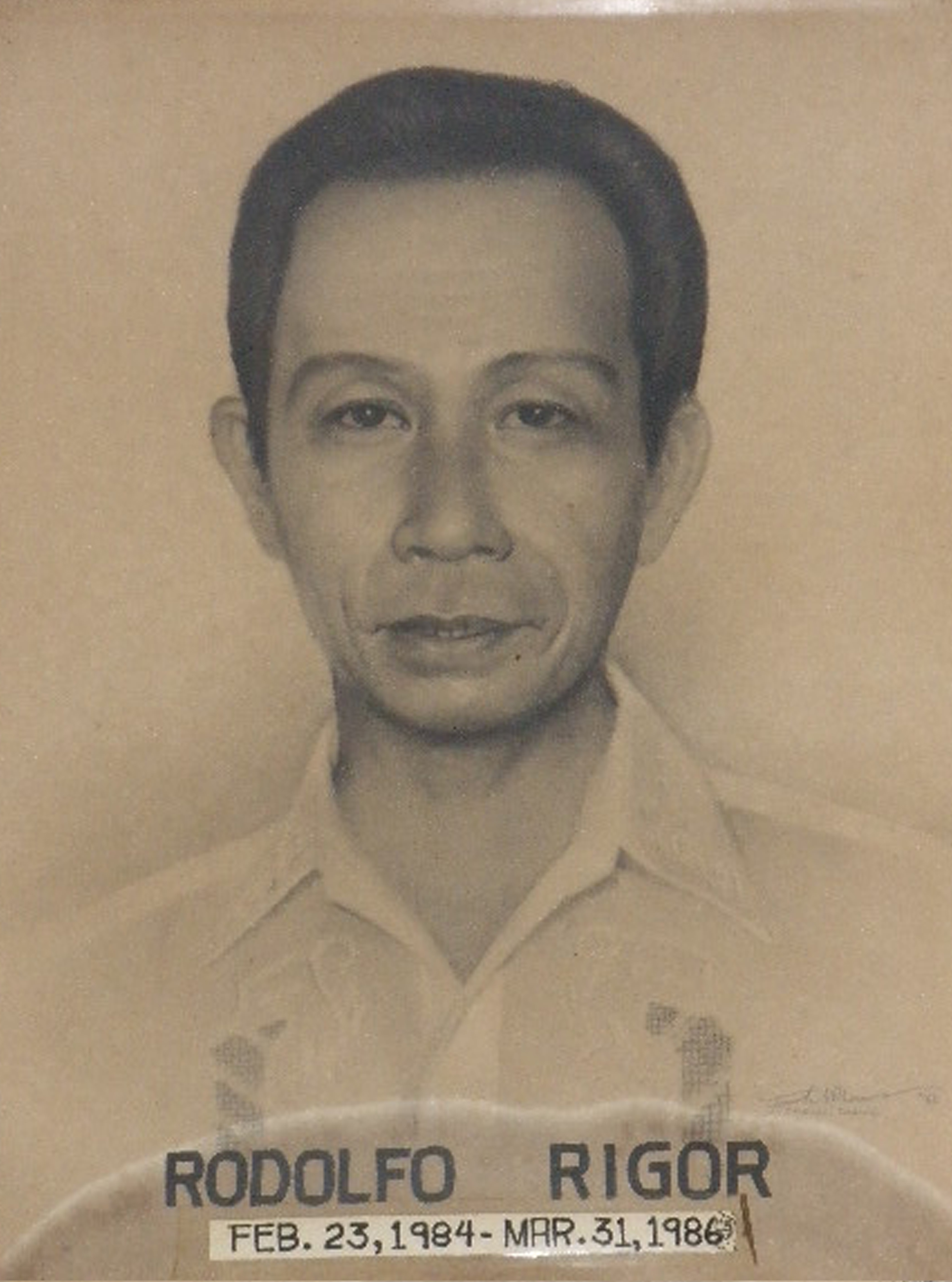 Mayor Rodolfo Rigor (1984-1986)