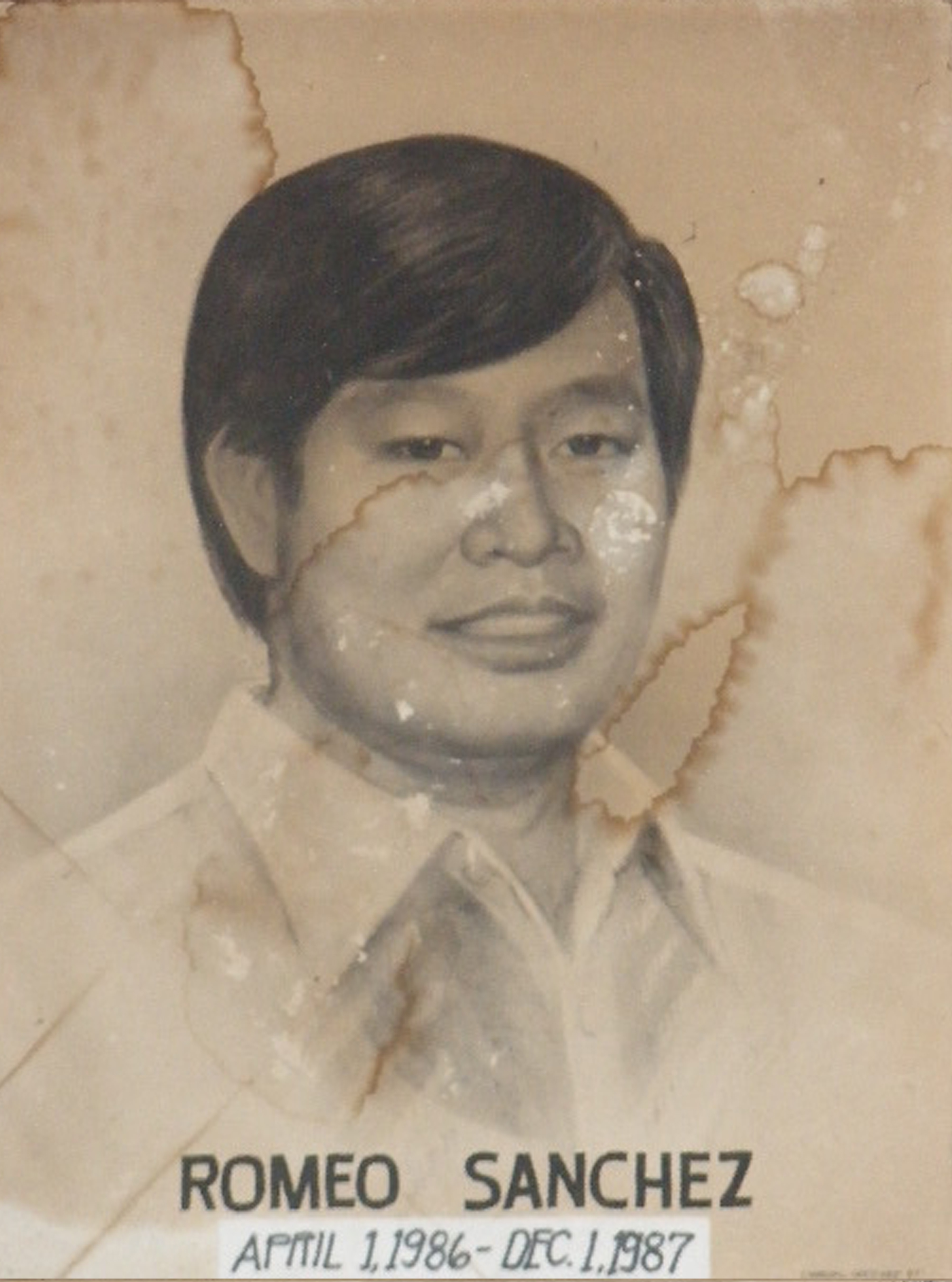 Mayor Romeo Sanchez (April 1 1986-Dec 1 1987)