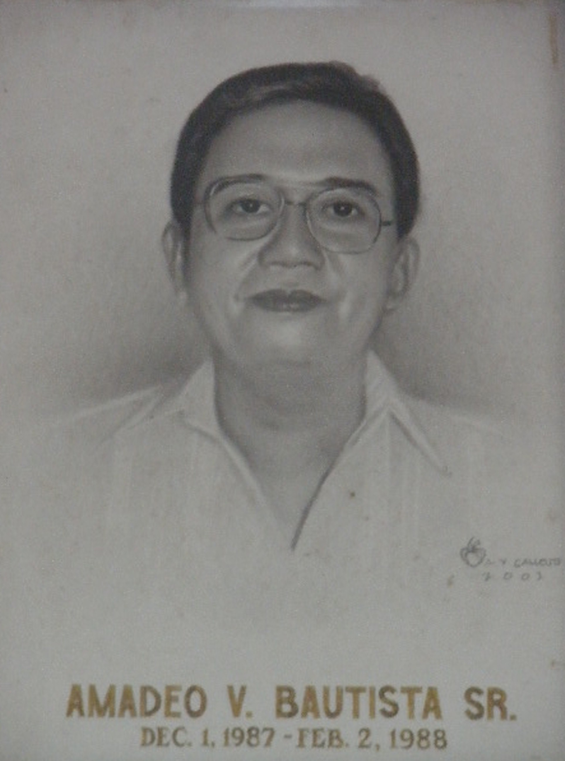 Mayor Amadeo Bautista Sr (Dec 7 1987-Feb 2 1988)