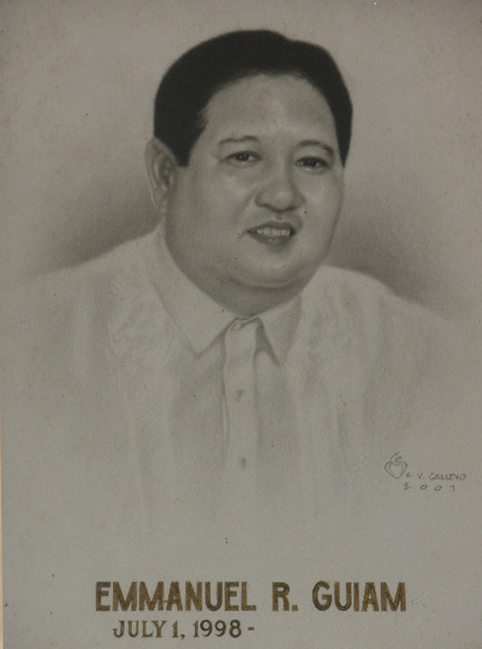 Mayor Emmanuel Guiam (July 1 1998-June 30 2007)