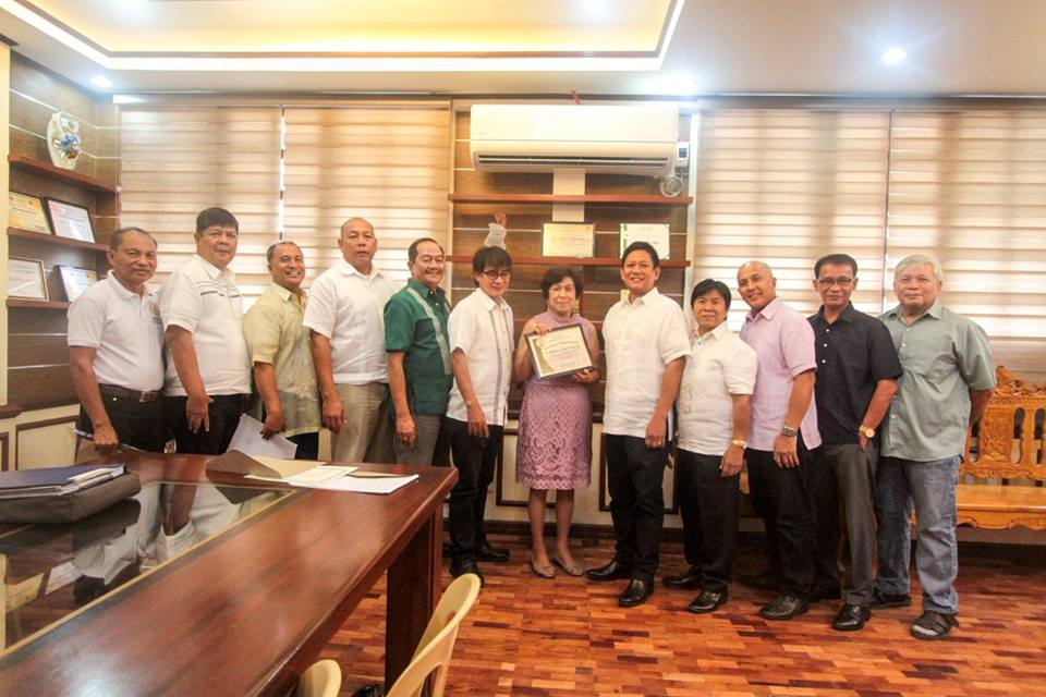 AWARDING OF CERTIFICATE OF APPRECIATION