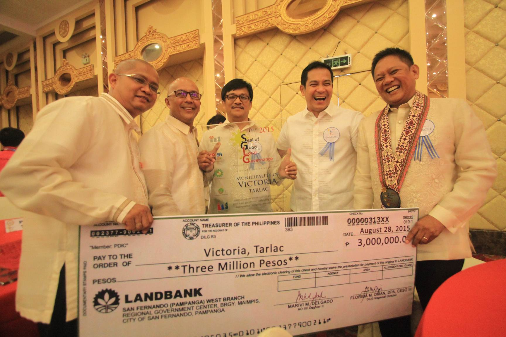 2015 SEAL OF GOOD LOCAL GOVERNANCE AWARDING CEREMONIES